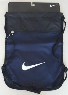 Nike Swoosh Drawstring Sports Training Gym Yoga Sack Backpack Bag Dark Blue NWT #Nike #Backpack
