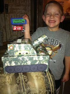 Valentine army tank box!