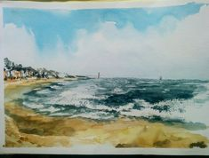 Portugal, Waves, Painting, Outdoor, Art, Outdoors, Art Background, Painting Art, Kunst