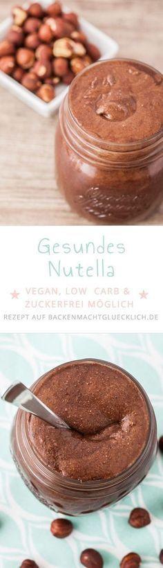 So einfach kann man Nutella selbermachen! Mit diesem Nutella-Rezept wird aus gerösteten Nüssen und Co eine gesunde vegane Schokocreme ohne Industriezucker, die je nach Zutat sogar low carb ist. Desserts Végétaliens, Desserts Sains, Low Carb Desserts, Vegan Sweets, Healthy Sweets, Healthy Dessert Recipes, Breakfast Recipes, Vegan Recipes, Diabetic Snacks