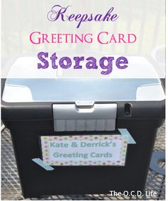 Unused Greeting Card Storage… Take Two!      The Gold Project