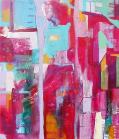 Original abstract painting on canvas - Memory Lingers. £195.00, via Etsy.