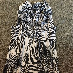 Zebra shirt Worn once Tops Blouses