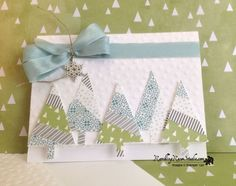 A lil Christmas Forest using Washi Tape...details @Ramblingrosestudio.com