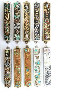 Art Judaica Jewelry Mezuzah Handmade Irina Smilansky home design hamsa Cultura Judaica, Arte Judaica, Doodle Inspiration, Jewish Art, Jewish History, Judaism, Messianic Jews, Jolie Photo, Bijoux Diy