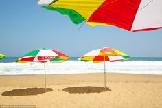 This beach on North Korea's east coast has soft golden sands but is empty of swimmers, alt...