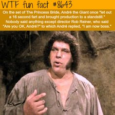 Andre the Giant's fart - WTF fun facts