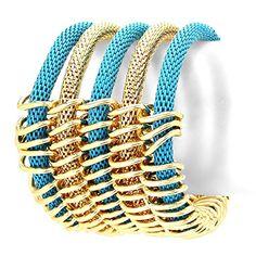 Multi Layered Metal Mesh Statement Stretch Bracelet / AZBRST919-NTQ Arras Creations http://www.amazon.com/dp/B016C2X63M/ref=cm_sw_r_pi_dp_Hr3swb0C736P5