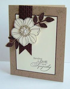 Handmade sympathy card from Love to Stamp. I love the neutral colors ... great layout ... great card ... Stampin' Up!