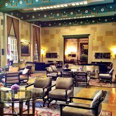 Elegant Lobby decor at the King David Hotel, Jerusalem, Israel