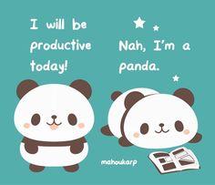 """No problem panda"" Baby Animals, Funny Animals, Cute Animals, Kawaii Drawings, Cute Drawings, Photo Panda, Panda Art, Panda Panda, Panda Drawing"