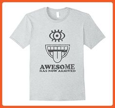Mens Awesome Has Now Arrived Funny T-Shirt Small Heather Grey - Funny shirts (*Partner-Link)