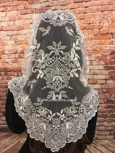 Italian Flowers, Teeth Braces, Catholic Prayers, Long Wedding Dresses, Modest Outfits, Embroidery Patterns, Shawls, My Style, Lace
