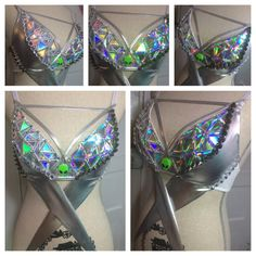 Alien rave bra costume halloween. I would probably take the alien face off actually