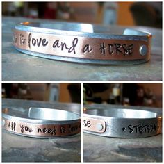 Personalized Handstamped Aluminum and by EquineExpressionsbyD, $35.00