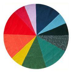 Donna Wilson Pie Chart Patchwork Blanket