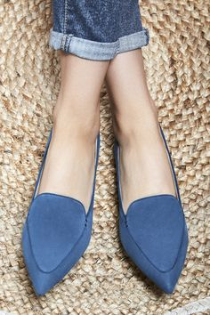 Blue suede smoking slippers | Sole Society Cammila