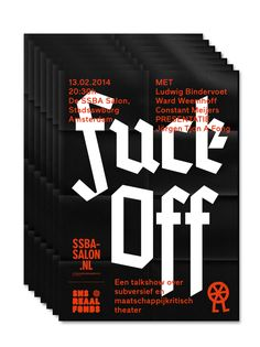 markus-lange:  Poster for SSBA-Salon Amsterdam with Adriaan Mellegers