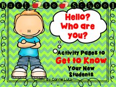 This back to school Get To Know You pack has been designed with the child in mind. Because not all families are the same, I have tried to accommodate for children with one parent, divorced parents, children that are only children etc. You will need to pick and choose pages that are specific to each child's need. It may take a bit longer, but I can't think of a better way to make a child feel welcomed and wanted by you.