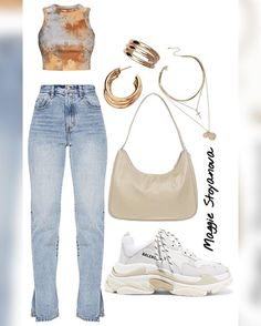 Fresh Outfits, Cute Casual Outfits, Cute Summer Outfits, Virtual Fashion, Daily Fashion, Day Drinking Outfit, Tie Dye Fashion, Teen Fashion Outfits, Korean Outfits