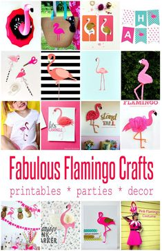 A couple of weeks ago I found a whole bunch of flamingo outfits to share. My searching turned up all these irresistibly cute flamingo printables, flamingo decor and other ways to DIY flamingos into your life. Flamingo Outfit, Flamingo Costume, Flamingo Shirt, Flamingo Craft, Flamingo Decor, Pink Flamingos, Flamingo Fabric, Flamingo Birthday, Flamingo Party