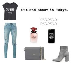 """Out and about in Tokyo."" by lia-styles1 on Polyvore featuring MANGO, Yves Saint Laurent, Gianvito Rossi, DKNY, Casetify, Dolce&Gabbana and ASOS"