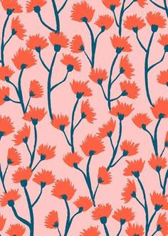 Pink and peach floral pattern color & pattern иллюстрации, п