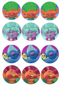 trolls movie free party printables