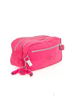 Kipling Agot Large Toiletry Bag in Vibrant Pink - Beyond the Rack