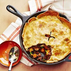 Beef and Stout Skillet Pie