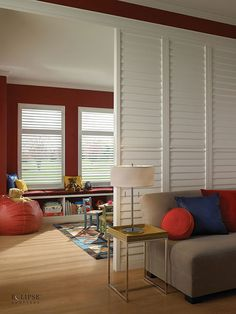 Louvered shutters - room dividers