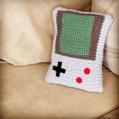Crochet Nintendo Gameboy pillow                                                                                                                                                                                 More