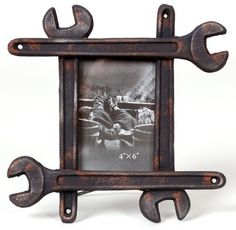 Wilco Imports Reclaimed Wrench Motif Rust Brown Resin Frame by Wilco Imports, http://www.amazon.com/dp/B00603NH74/ref=cm_sw_r_pi_dp_D9moqb1GSX451