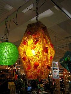 レトロ6070アクリルストーンランプミッドアンティークシェードUS Antique lamp shade ¥24800yen 〆04月08日