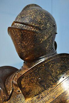 Gold Armor, Armature, Arm Armor, Medieval Armor, Central Europe, Armors, Metropolitan Museum, Chains, Riding Helmets