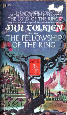The Fellowship of the Ring by J.R.R. Tolkien. Ballantine 1967. Cover artist Barbara Remington by pulpcrush, via Flickr