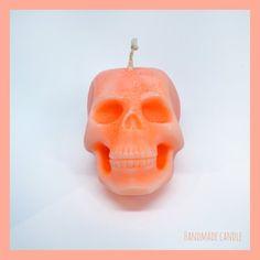 Sugar Skull Kerze orange (kein Duft)  #halloweencandle #halloween #halloweenkerze #kerze #skull #totenkopf #pumpkincolor
