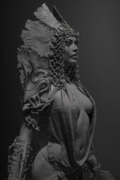 ArtStation - Darkrazor, Dmitry Osipenko Character Modeling, Character Art, Character Design, Zbrush, 3d Figures, 3d Fantasy, Modelos 3d, Art Model, Oeuvre D'art