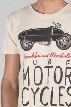 Herren-T-Shirt mit Rundhalsausschnitt aus geflammtem Jersey