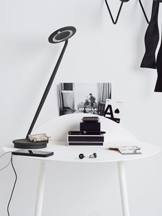 PIXO LAMP has an adjustable neck and has a built-in USB port for charging a phone or tablet. I clicked and pinned DWR. I will win but I do love the functionality and look of this minimalist lamp! Awesome functional art addition to our busy guest house. Interior Design Inspiration, Home Decor Inspiration, Decor Ideas, Modern Furniture, Furniture Design, Quality Furniture, Design Within Reach, New House Plans, White Rooms