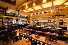 Max Brenner's in the Forum Shops at Caesar's.  Every Chocolate lover's dream.  And the price is right!  (They also have food without chocolate).  Try the waffles.  They are to die for!
