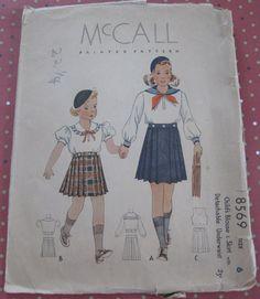 1930's Vintage McCall Sewing Pattern 8569 by ingrandmasattic, $9.95