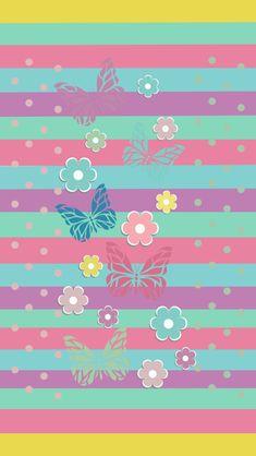 Ipod Wallpaper, Easter Wallpaper, Flowery Wallpaper, Flower Background Wallpaper, Summer Wallpaper, Butterfly Wallpaper, Heart Wallpaper, Cute Wallpaper Backgrounds, Colorful Wallpaper