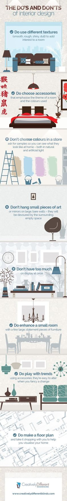 Infographic: The Do's and Don'ts of Interior Design