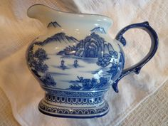 BOMBAY Creamer Blue Willow Asian Theme  Small by ThePearlSwan, $22.50