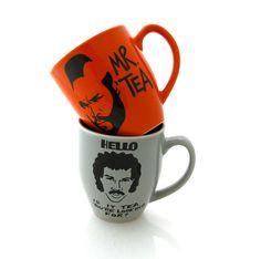 #etsy mugs: Mr. Tea and Lionel Richie