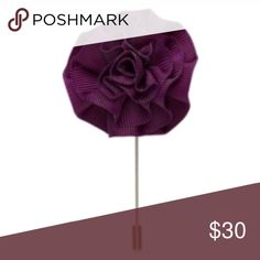 Plum flower floral lapel pin stickpin Complete your look with this classic grosgrain ribbon flower lapel pin. Accessories