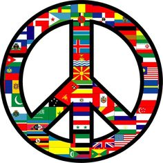 $2.48 - World Peace Sign Symbol Bumper Sticker Helmet Sticker Laptop Sticker Window #ebay #Collectibles