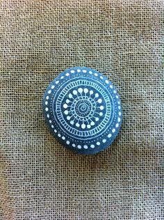 Mandala Painted Pebble. $10.00, via Etsy.