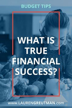 I wonder - what does true Financial Success look like to you? Here is how to stop chasing everyone's else's dreams and figure out your own. via /iatllauren/
